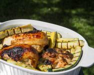 Orange Zest and Maple Grilled chicken