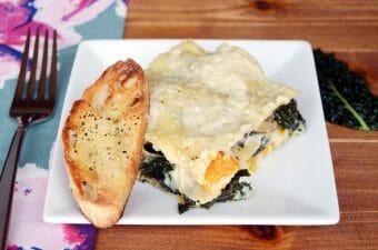 Winter Veggie Lasagna with Butternut Squash, Kale and Mushrooms