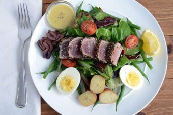 Salad Nicoise with Seared Pepper Crusted Tuna