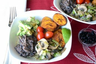 Quinoa Bowl with Black Beans and Plantains